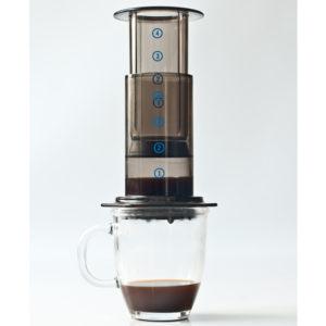 Aeropress coffee making into cup